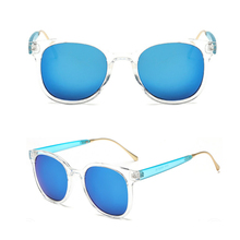 Round 투명 Custom Brand Top Quality <span class=keywords><strong>플라스틱</strong></span> CE UV400 <span class=keywords><strong>편광</strong></span> Clear Frame Women Sunglasses