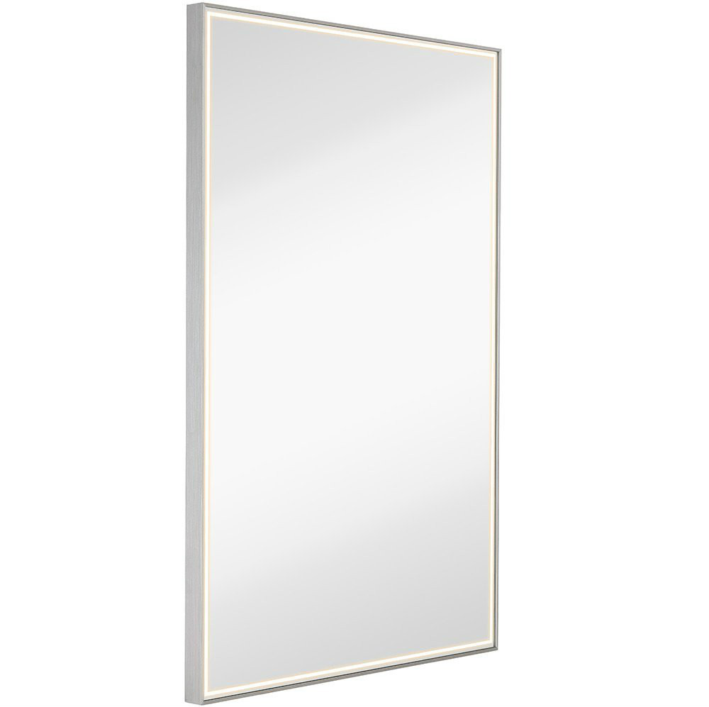 hotel lobby mirror with polishing edge float steel frame mirror