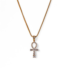 2019 trendy mini cross stainless steel cubic 지르콘 fashion necklace