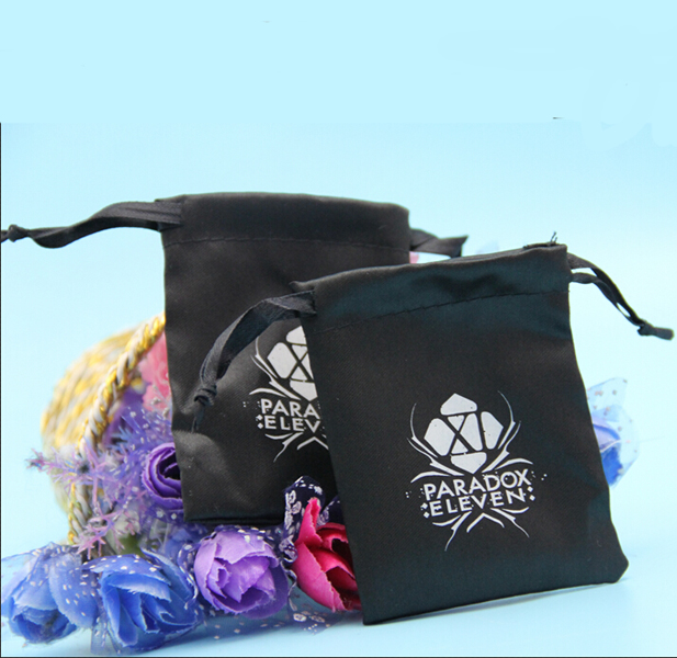 Factory price wholesales Black Satin Pouch For Dice