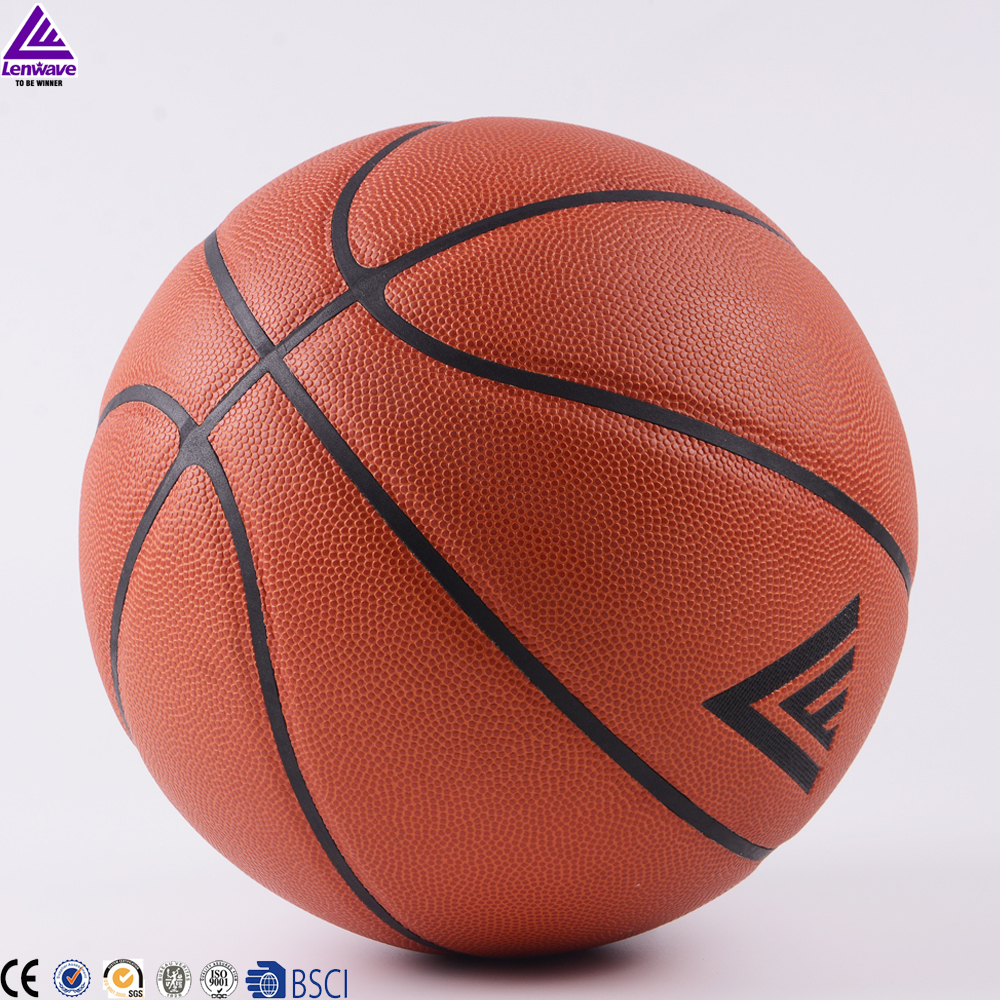 lenwave good touch hygroscopic non-slip factory price custom microfiber basketball ball