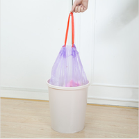Wholesale Stock Small Order 15 In 1 Points Crevice Thickend Automatically Ankle Banded Convergent Rubbish Bag