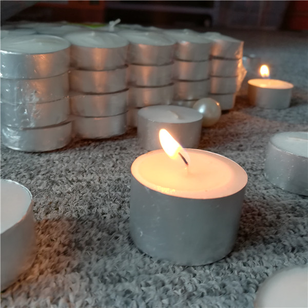 Cheap unscented white tea light candles 100 pack