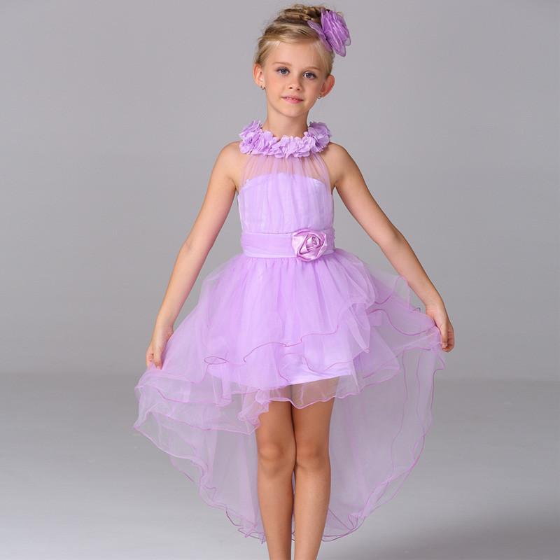 Boutique flor Halter backless Cruz cuerda niña trailing vestido de ...