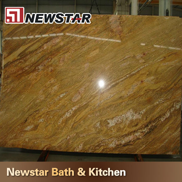 india polishing imperial gold granite slab