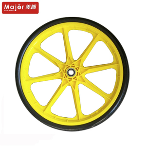 20 inch solid bicycle tyre pu foam wheel with plastic spoke rim