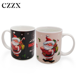 12OZ custom ceramic magic hot water heat sensitive color changing mug