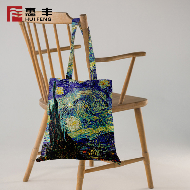 China Suppliers Wholesale Eco Cotton Full Color Printing Tote Bag Custom Logo