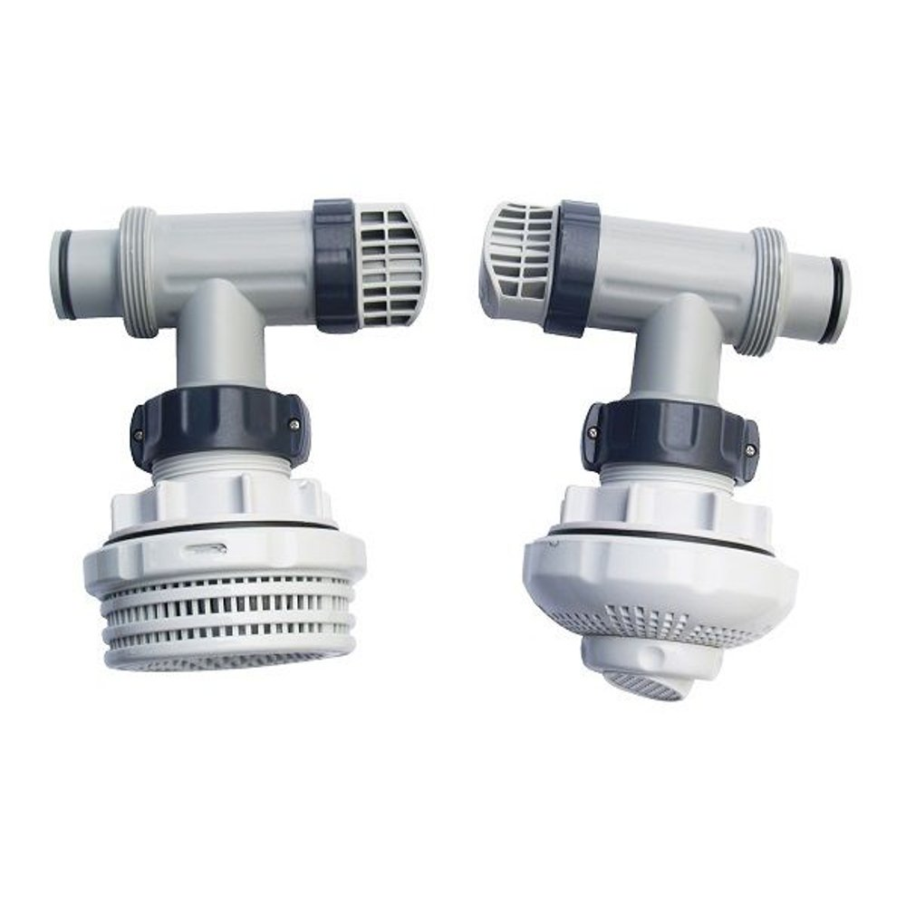 Intex 1.5 Inch Above Ground Pool Inlet & Outlet Strainer Fittings Set | 26073RP