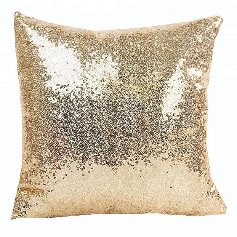 Shiny Sparkling Bling Sequins Comfy Solid Cushion Covers Square Pillowcases for Party Christmas