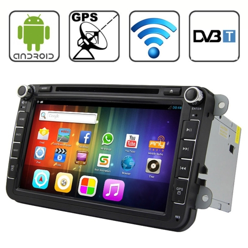 8.0 Android 4.2 Multi-Touch Capacitive Screen In-Dash Car DVD Player for Volkswagen with WiFi / GPS / RDS / Bluetooth