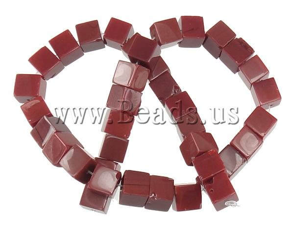 Free shipping!!!Jade Beads,Exaggerated, Jade Red, Cube, natural, 10x10x10mm, Hole:Approx 1.5mm, Length:Approx 15 Inch