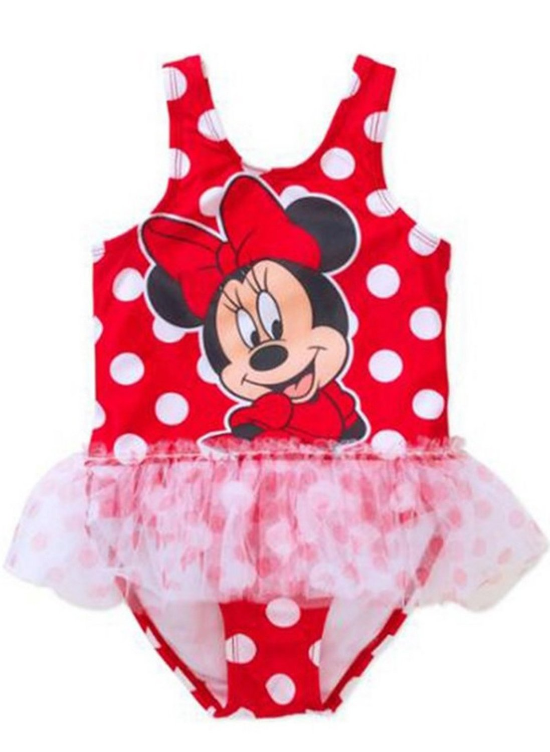 92fda9e16f Get Quotations · Disney Minnie Mouse Toddler Girls' 1 - Piece Tutu Swimsuit