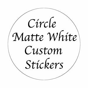 300 CUSTOM STICKERS ~ 2 inch White Matte Circle Personalized Labels