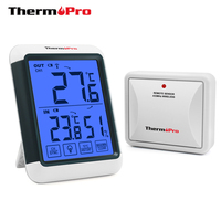 ThermoPro TP65S Digital Thermometer Hygro-thermometer with Wireless Sensor Room/ Car/ Fridge Thermometers