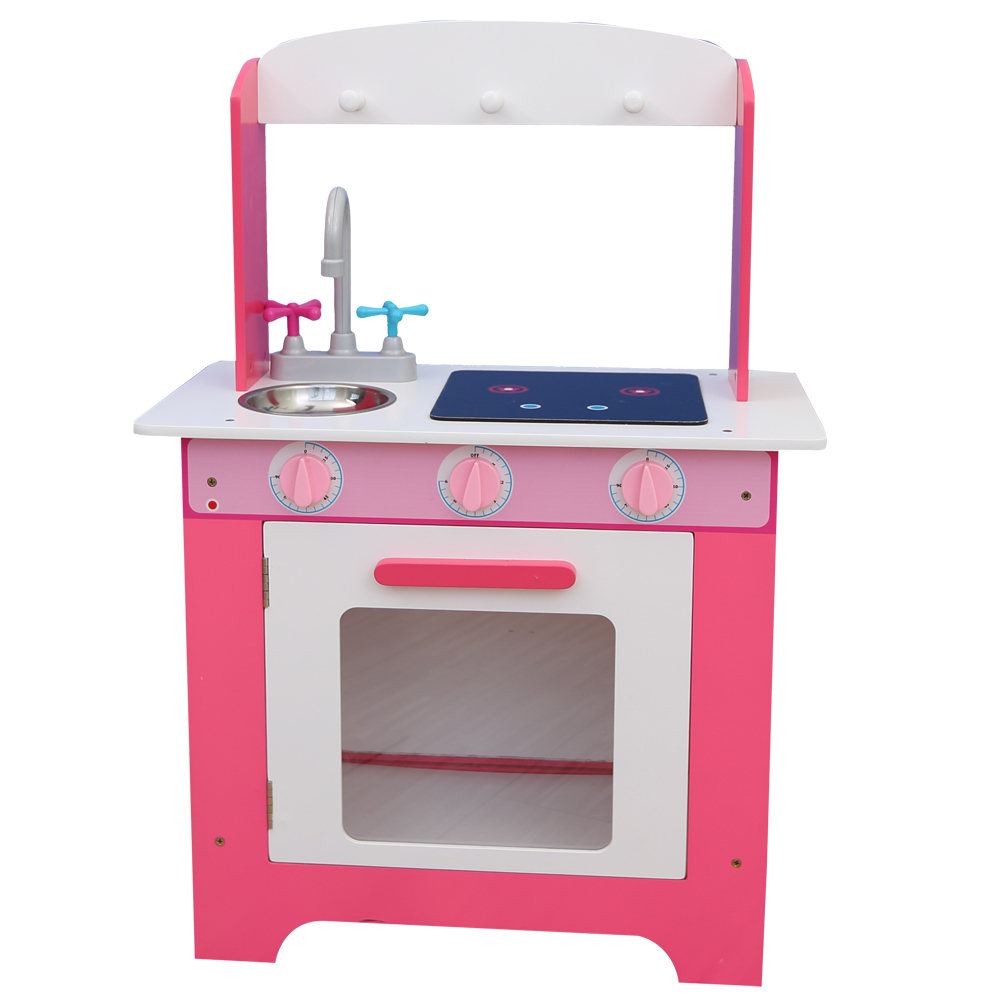 PLK522 Cheap Kids Wooden Play Kitchen Easy Assemble