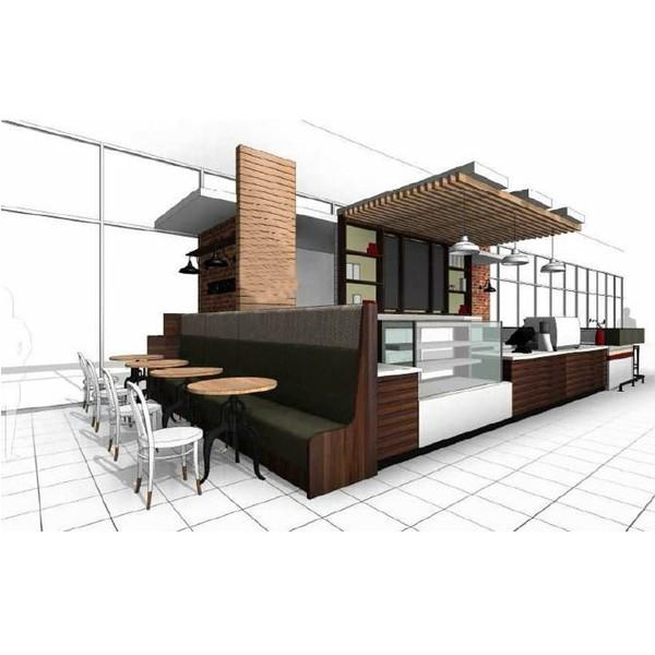 Custom Manufacturer Attractive 3d Coffee Shop Kiosk