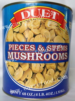 Mushrooms Pieces and Stems with slice and whole mushrooms
