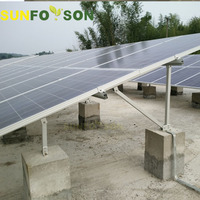 50kw ground mount solar panels structure solar power mounting system