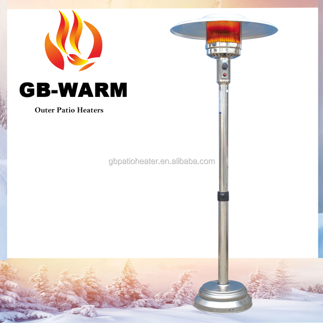 Umbrella Shape Gas Outdoor Patio Heater, Garden Treasures 45,000 BTU Mocha  Steel Floorstanding Patio