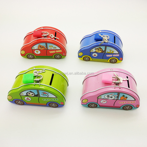 New arrival multi function car shaped mini tin storage box for small articles