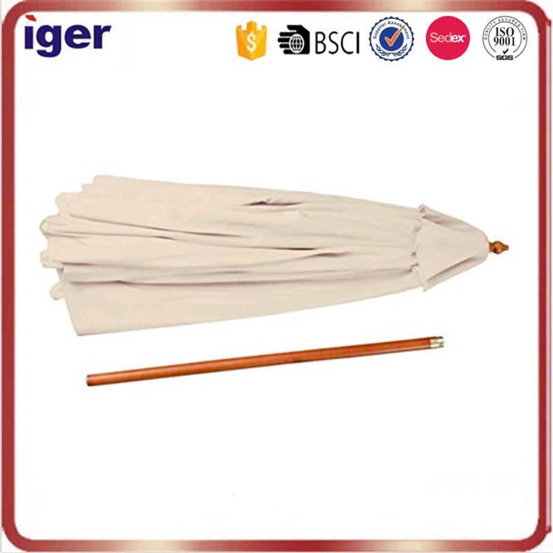 Buen precio tejido de poli ster sombrilla marco de madera for Precio de sombrillas