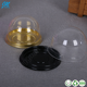 Plastic clear small cupcake container round swiss cake roll packaging box