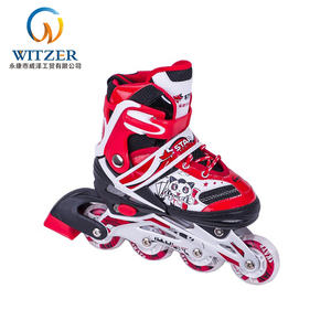 Adults kids shoes with 4 lights rubber wheel inline skates