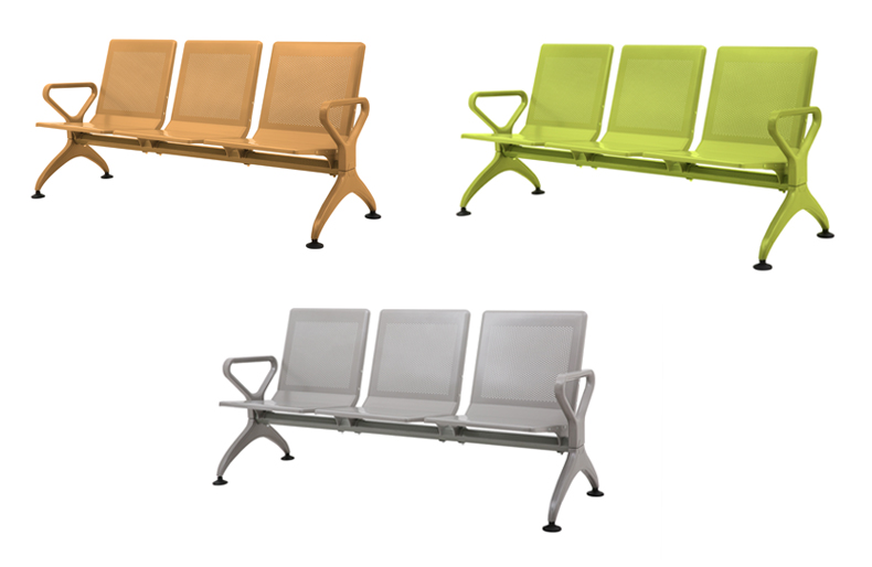 office furniture manufacturer 3-seater waiting chair airport benches
