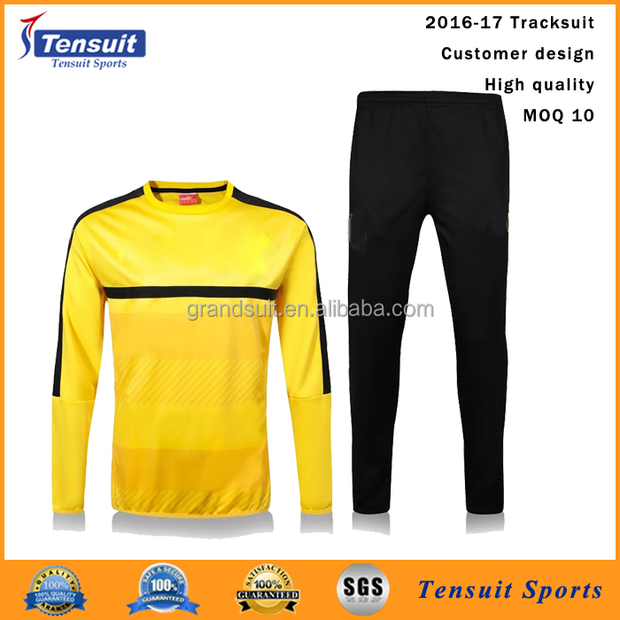 Good soccer wear hot selling beautiful tight tracksuit uniforms youth football uniforms wholesale from China thick tracksuit