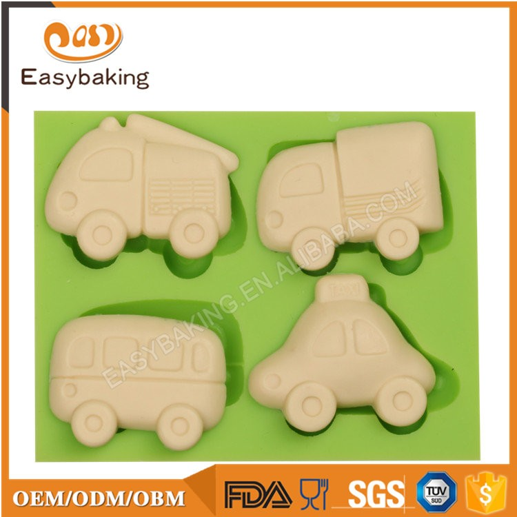 ES-6407 Cars Shape Fondant Mould Silicone Molds for Cake Decorating