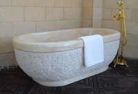 Natural cream color marble freestanding bath tub for sale