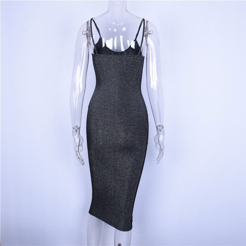 Women Sexy offical Spaghetti Strap Party Dress Sleeveless Bodycon long Dresses for summer