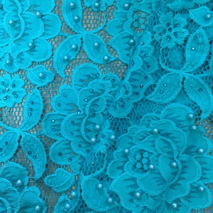 Hot sale best quality pearl beaded lace fabric,pearl lace fabric,pearls sequin beaded lace fabric