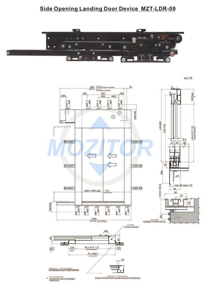 Hydraulic Lift   Elevator Spare Parts Door System  Elevator Door ...