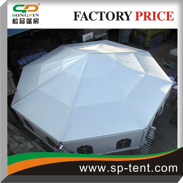 Heavy Duty aluminum Structure 15m Diameter Octagonal Party Tents covering 160sqm with windows walls.