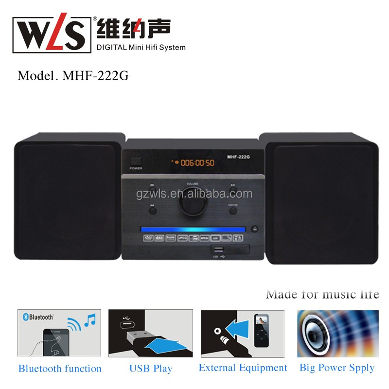 Factory good price hifi micro sound system CD/DVD player for home