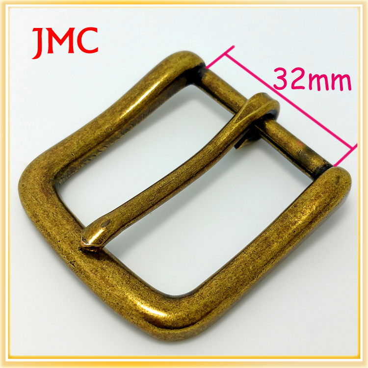 32mm old fashion single prong belt buckles for sale