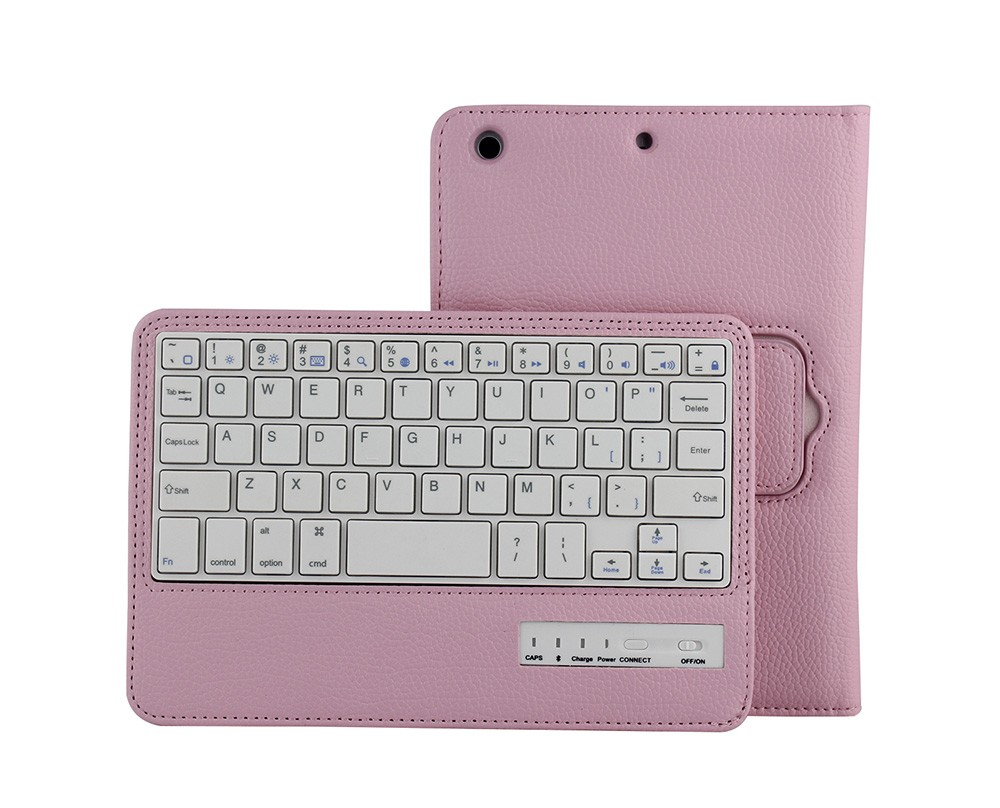 Mini bluetooth keyboard for tablet pc with leather case,detachable magnetic bluetooth keyboard for Ipad-SPM01