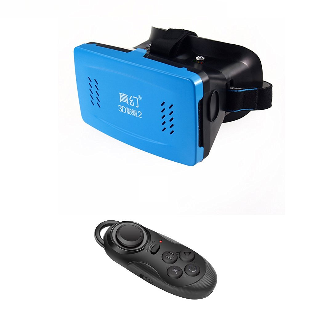 Meidus Head Mount Version 3D VR Glasses Cardboard Movies Smartphone + Bluetooth Remote Shutter