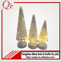 beautiful glass crafts glass angel with LED light for home decoration in Christmas day