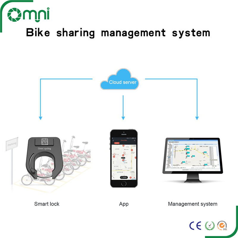 IOS Android APP control Anti theft bluetooth bike lock gps tracking bicycle sharing system