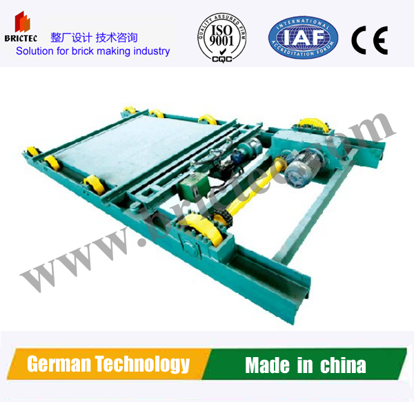 2016 New Germen Technology Hydraulic step pusher kiln car into brick kiln