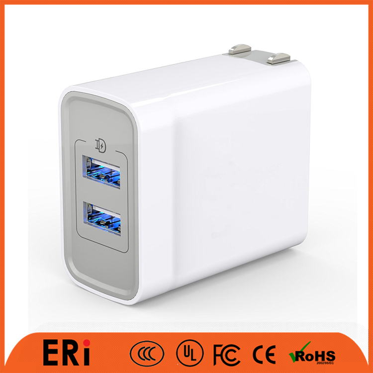 Amazon hot oem factory FCC CE certified mobile accessories folding plug phone home us wholesale mini dual usb wall charger