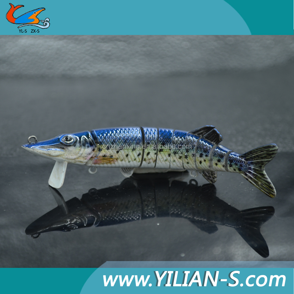 New style artificial hard lure 8 section swimbait fishing lure tape