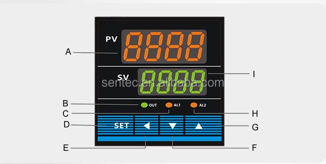 Plusieurs entrées de signaux réglage PID régulateur de température