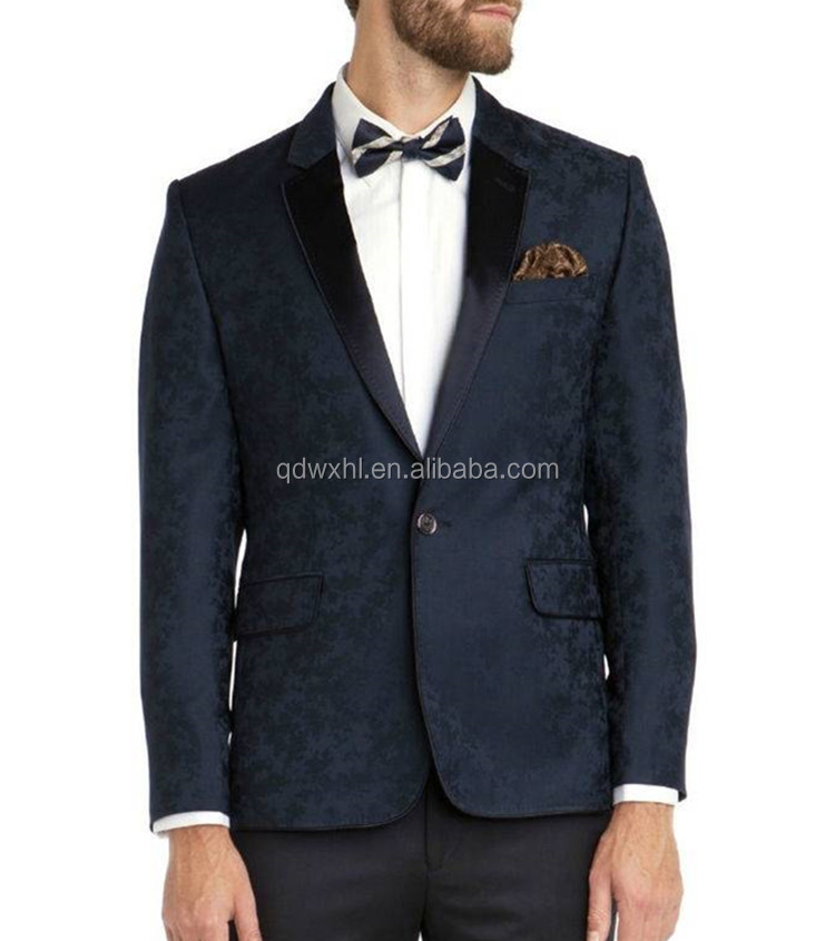 suits Retro gentleman custom made tailor Blazer pocket button up lapel slim fit cotton frock suit design for men