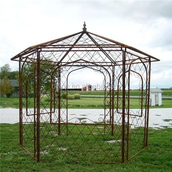 Shijiazhuang fabriek tuin tuinhuisje dome dak buy - Pergolas de forja ...