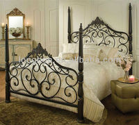 Top-selling hand-forged elegant metal bed frame