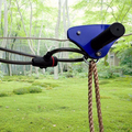 CTSC 95' Family Backyard Zip Line Kits with Parent Lock, Tree Protector, Brake and Seat! Flying Fox